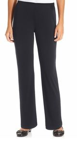NY COLLECTION SIZE M PETITE NAVY STRAIGHT LEG PANT